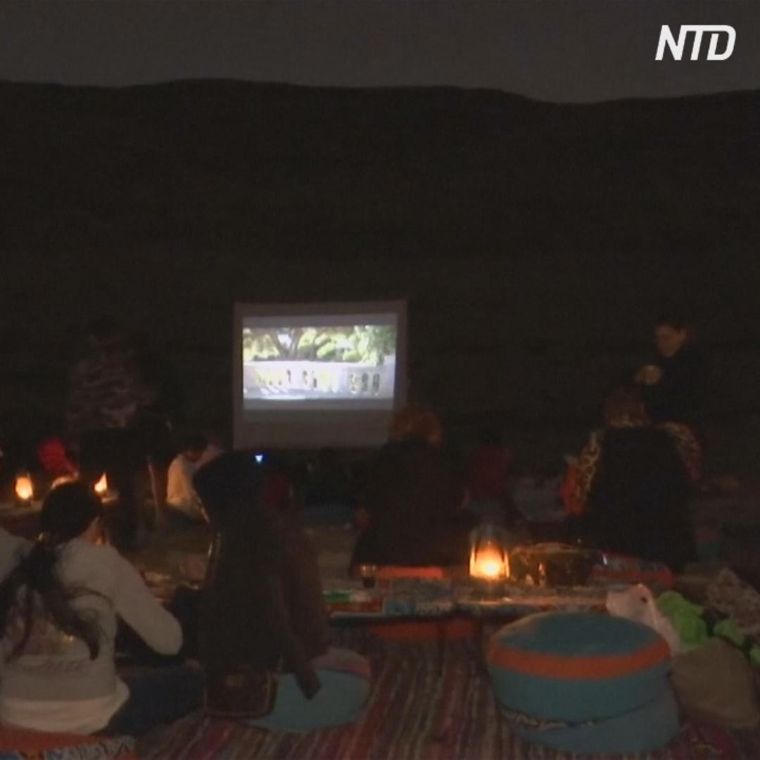 В египетской пустыне появился кинотеатр
