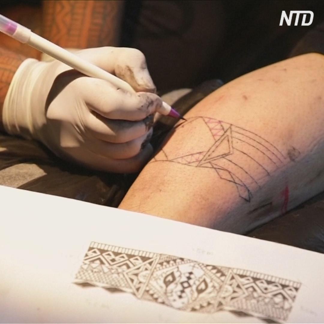 Как делают татуировки коренные тайваньцы