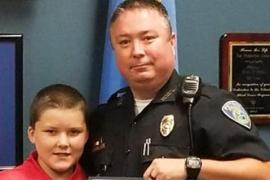 Полицейский спас мальчика и усыновил его на следующий день