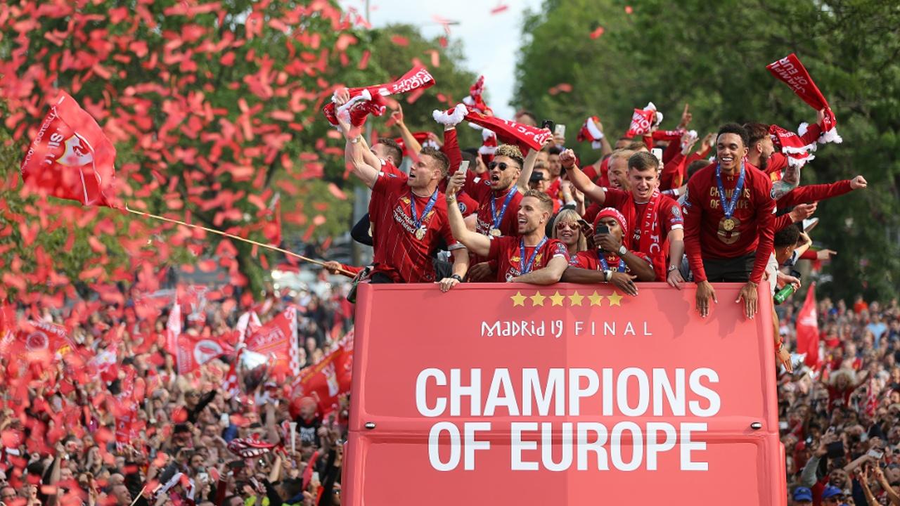 750 тысяч болельщиков поздравили «Ливерпуль» с победой в Лиге чемпионов