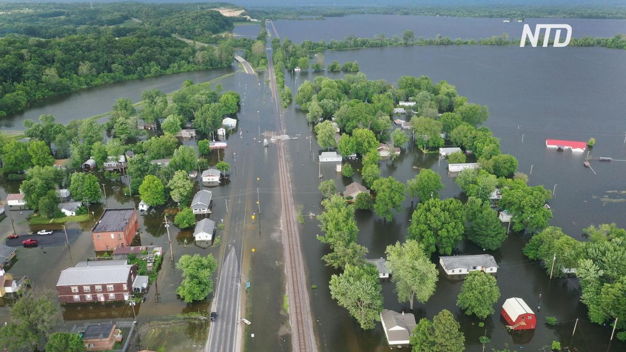 Наводнения на Среднем Западе США не дают фермерам засеять поля
