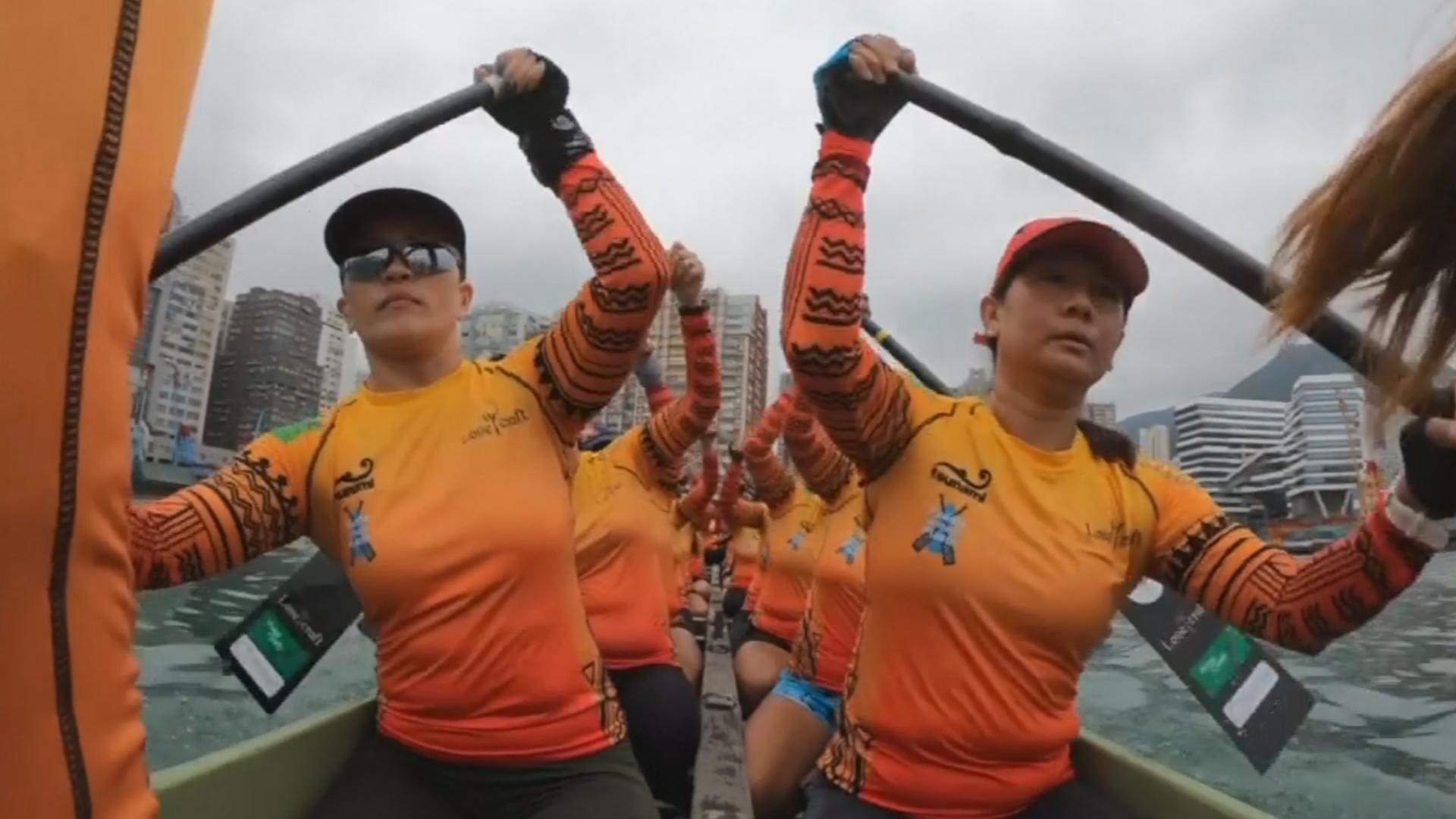 Горничные с Филиппин хотят победить в гонках на лодках-драконах в Гонконге
