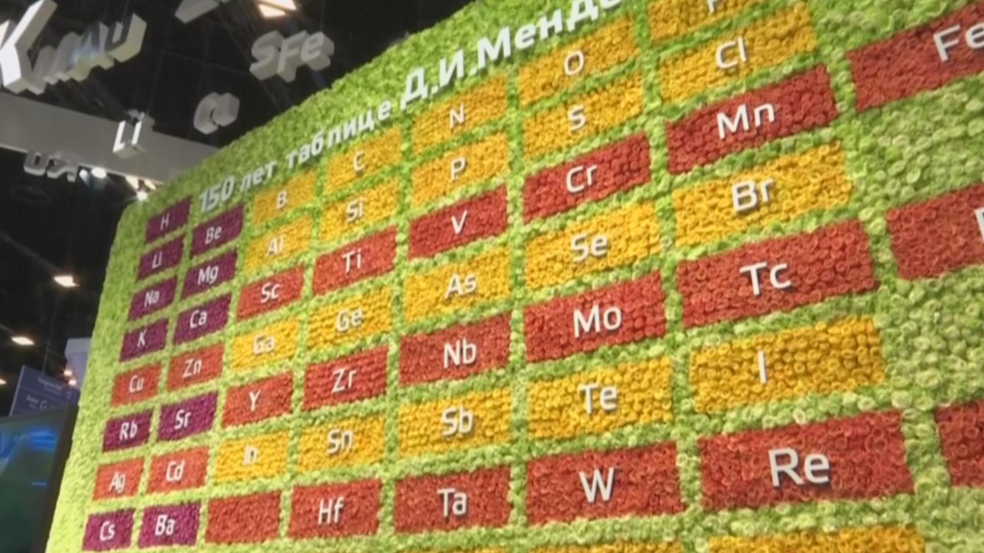 Таблица Менделеева из роз: как в Питере отметили 150-летие её открытия