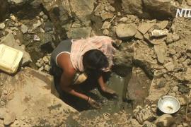 Водный кризис в Индии: жители спускаются в колодец на 12 метров