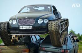Петербуржец поставил на гусеницы спорткупе Bentley