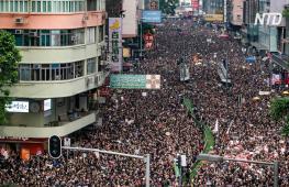 Протесты в Гонконге продолжаются: на улицы вышли почти два миллиона человек