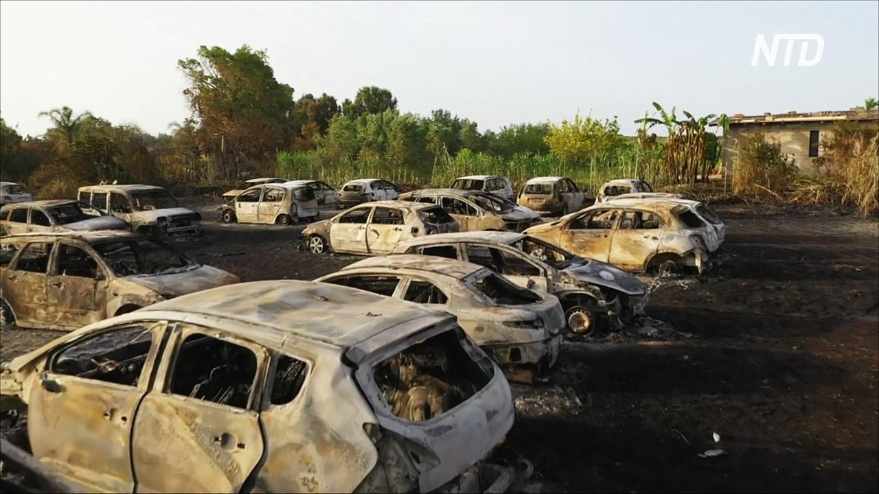На сицилийском пляже сгорело более 40 машин