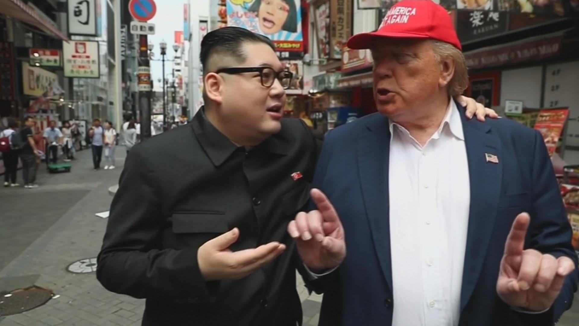 Двойники Трампа и Ким Чен Ына прогулялись по Осаке перед саммитом G20