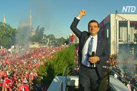 Нового оппозиционного мэра Стамбула поприветствовали тысячи человек