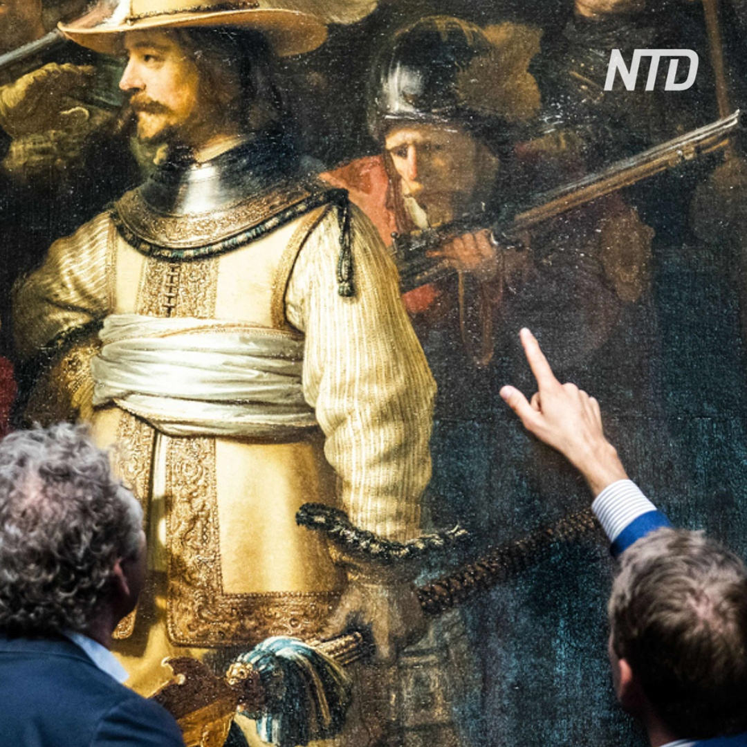 Реставрацию шедевра Рембрандта можно увидеть онлайн