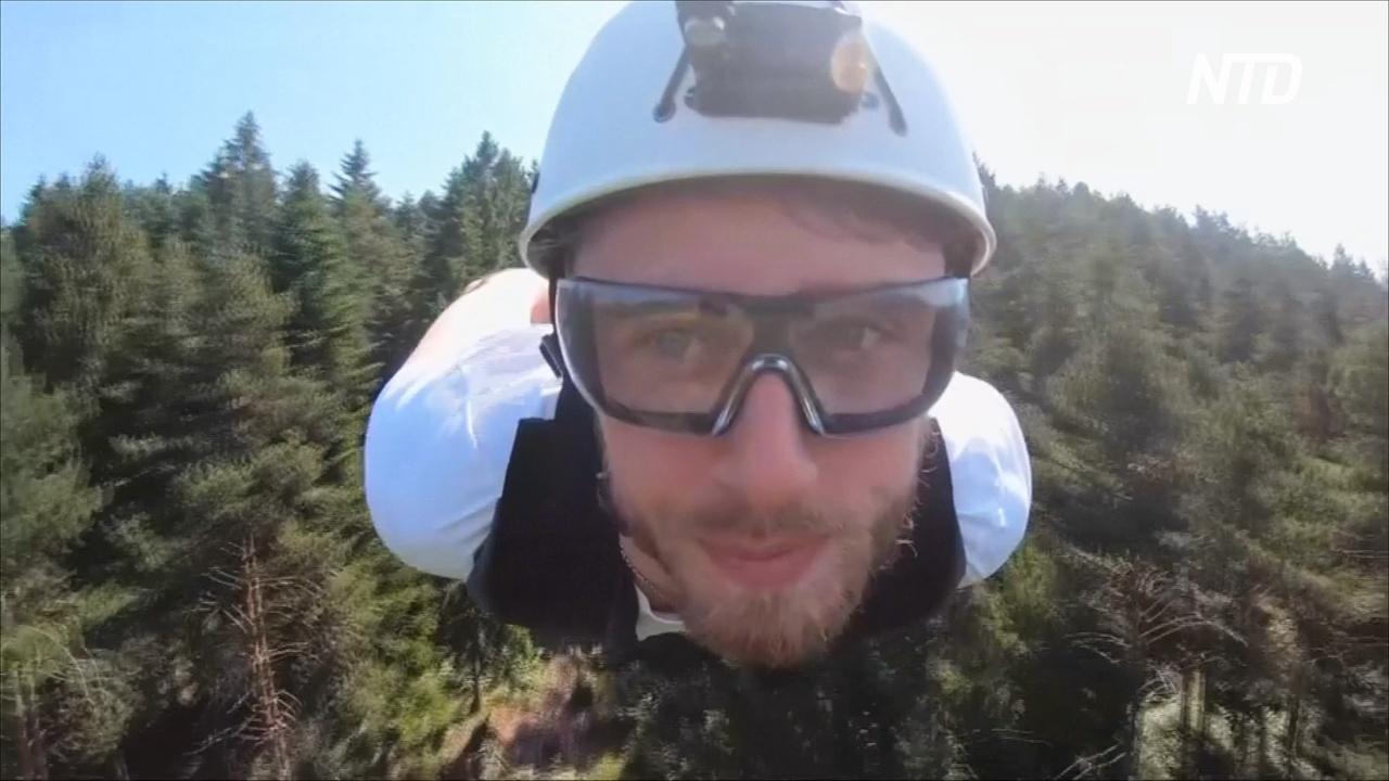 Полюбоваться пейзажем, спускаясь по зиплайну, предлагают в Хорватии