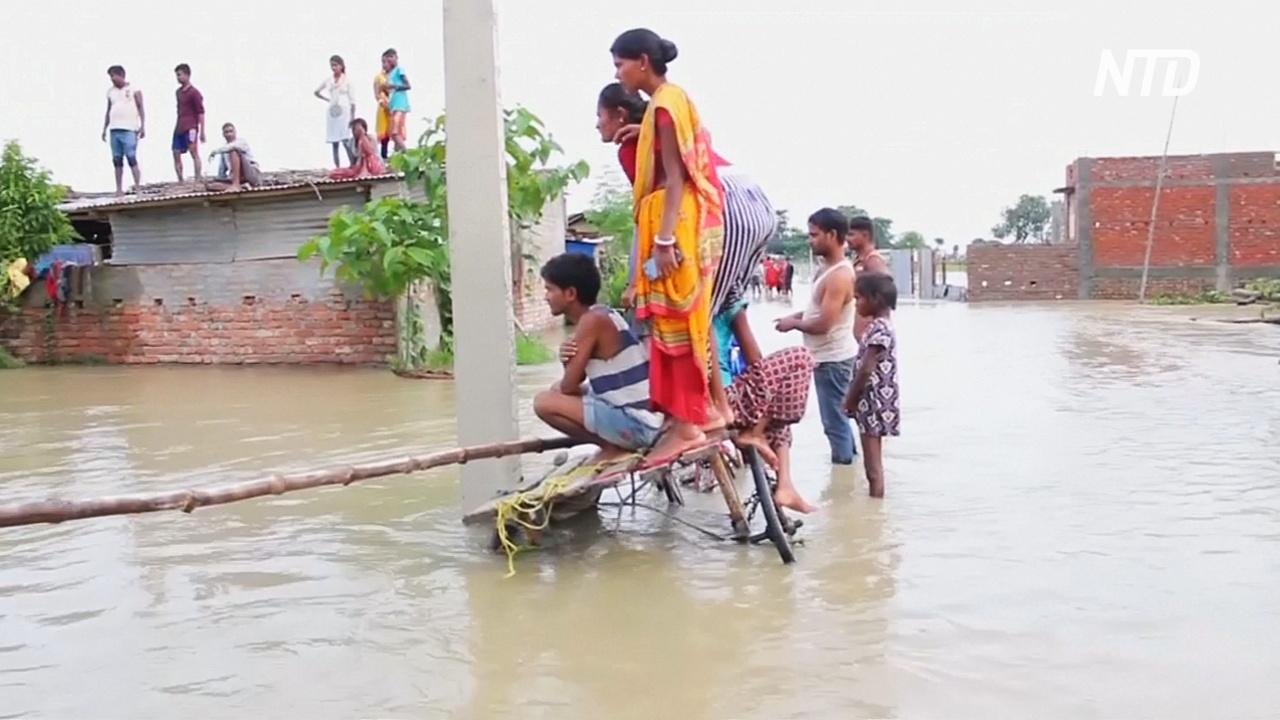 В Непале, Индии и Бангладеш начались наводнения, десятки погибших