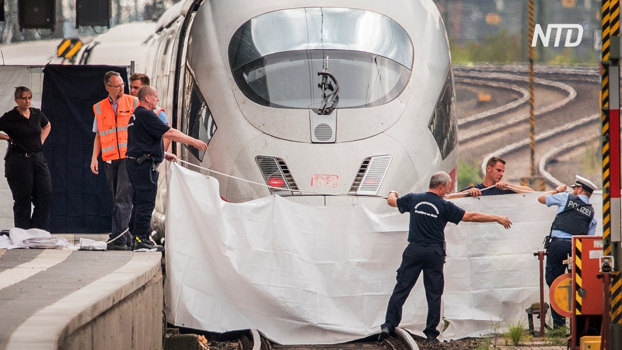 Во Франкфурте провели панихиду по мальчику, которого столкнули под поезд