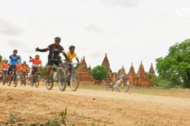 Мьянманцы провели велопробег в городе Паган, который стал объектом ЮНЕСКО