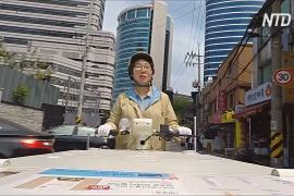 «Леди-йогурт» колесит по Сеулу и наведывается к старикам
