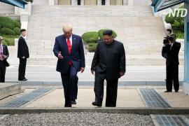 Дональд Трамп стал первым президентом США, ступившим на территорию КНДР