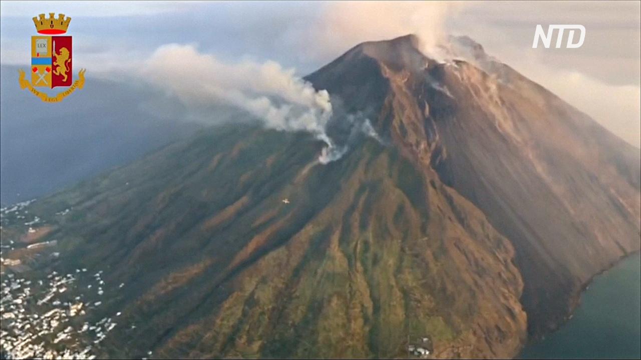 На итальянском острове Стромболи активизировался вулкан: один турист погиб