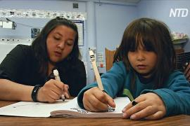 В американской школе преподают на двух языках индейцев