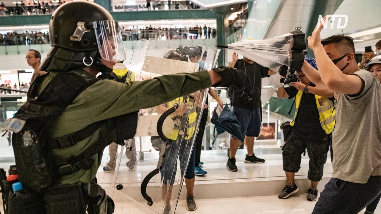 Протесты в Гонконге сместились ближе к материковому Китаю
