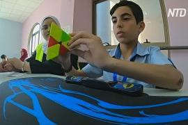 Чемпионат по сборке кубика Рубика прошёл на Западном берегу