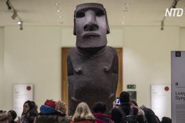 Жители острова Пасхи надеются обменять свою статую моаи на копию