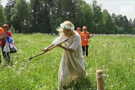 Как на Урале состязались косари