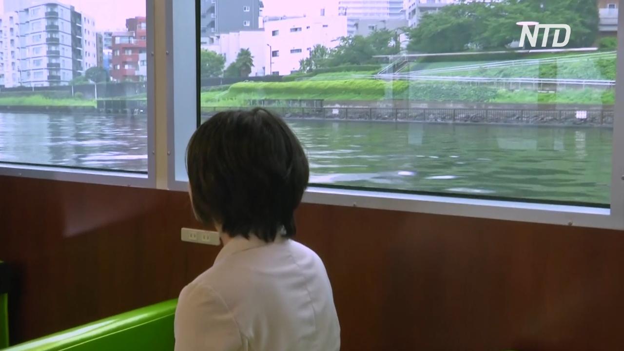 В Токио пустили паром, чтобы разгрузить метро в дни Олимпиады