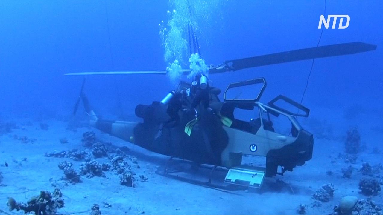 Подводный военный музей в Иордании будет привлекать туристов и рыбу
