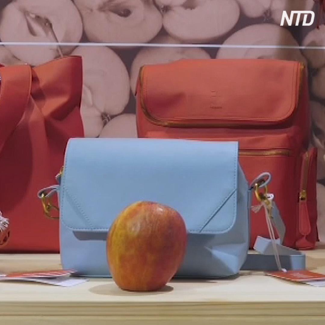 Как выглядят обувь изо мха и сумки из яблок