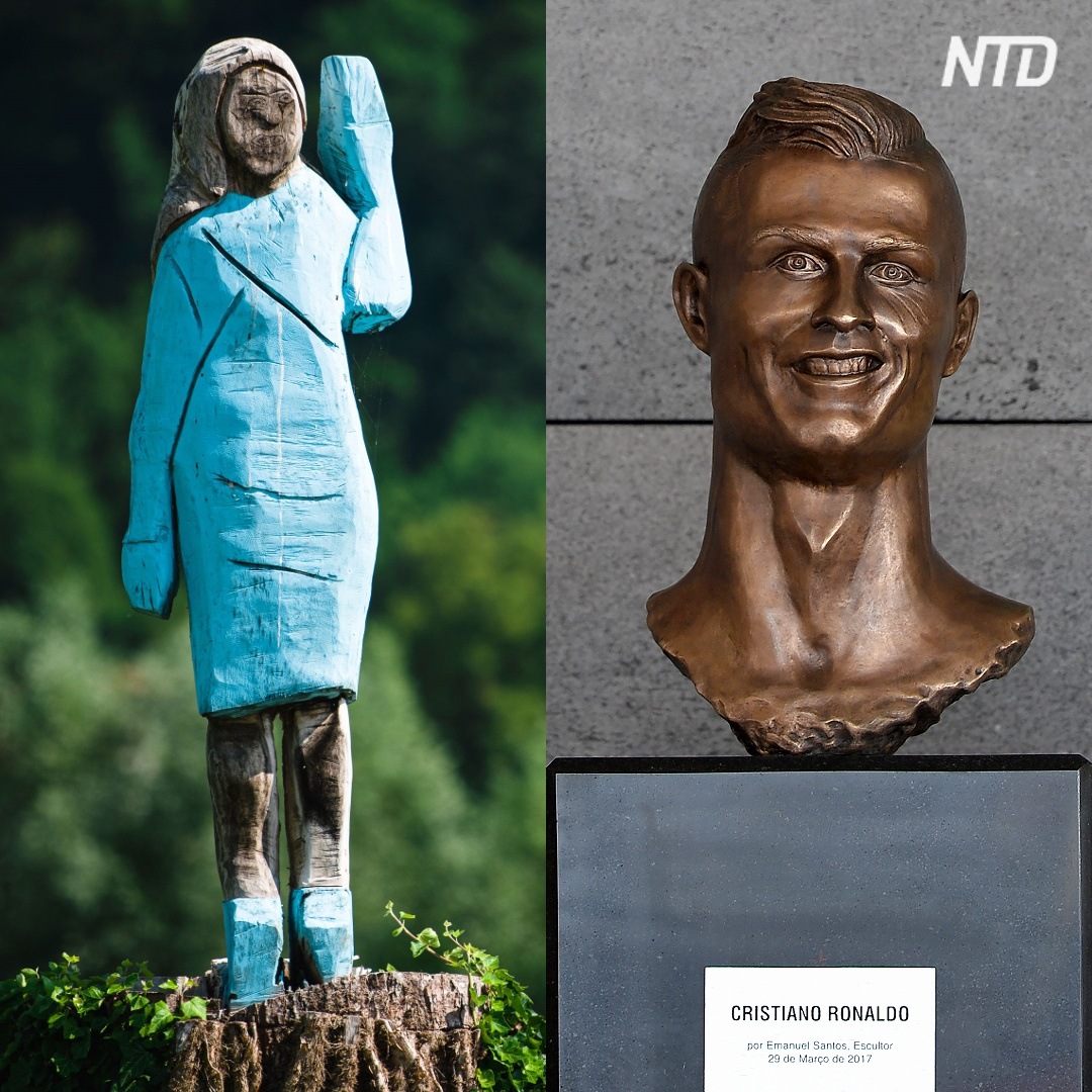 От Меланьи Трамп до Криштиану Роналду: самые нелепые статуи по всему миру