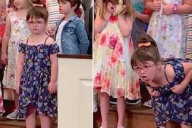 5-летняя Лили устроила шоу на детском празднике