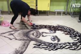 Парикмахер из Македонии прославилась портретами из волос