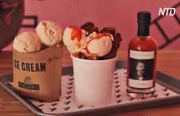 Как в Лондоне спасаются от жары: мороженное с чипсами и снежные комнаты