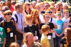 Сотни обладателей рыжих шевелюр съехались на фестиваль во Франции