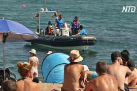 Барселона: людей эвакуировали с пляжа из-за старой бомбы в море