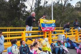 Венесуэльцы протестуют против введения визового режима Эквадором