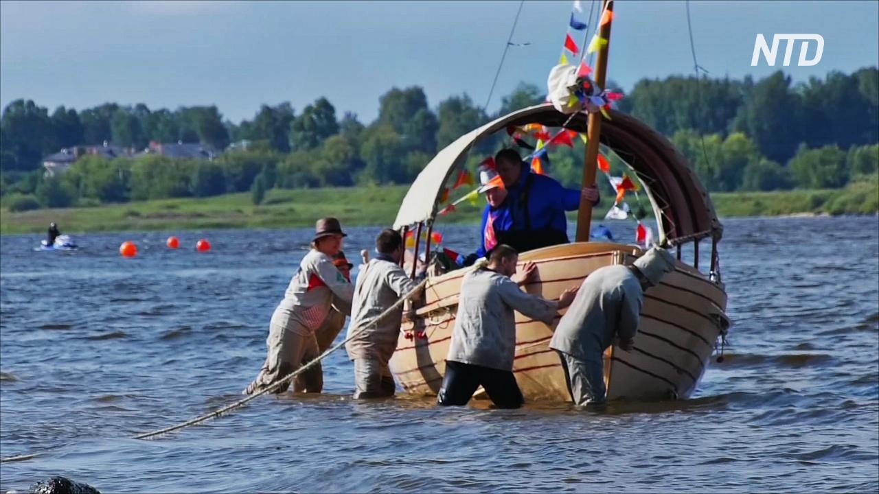 Тяготы бурлацкой жизни испытали участники фестиваля в Рыбинске