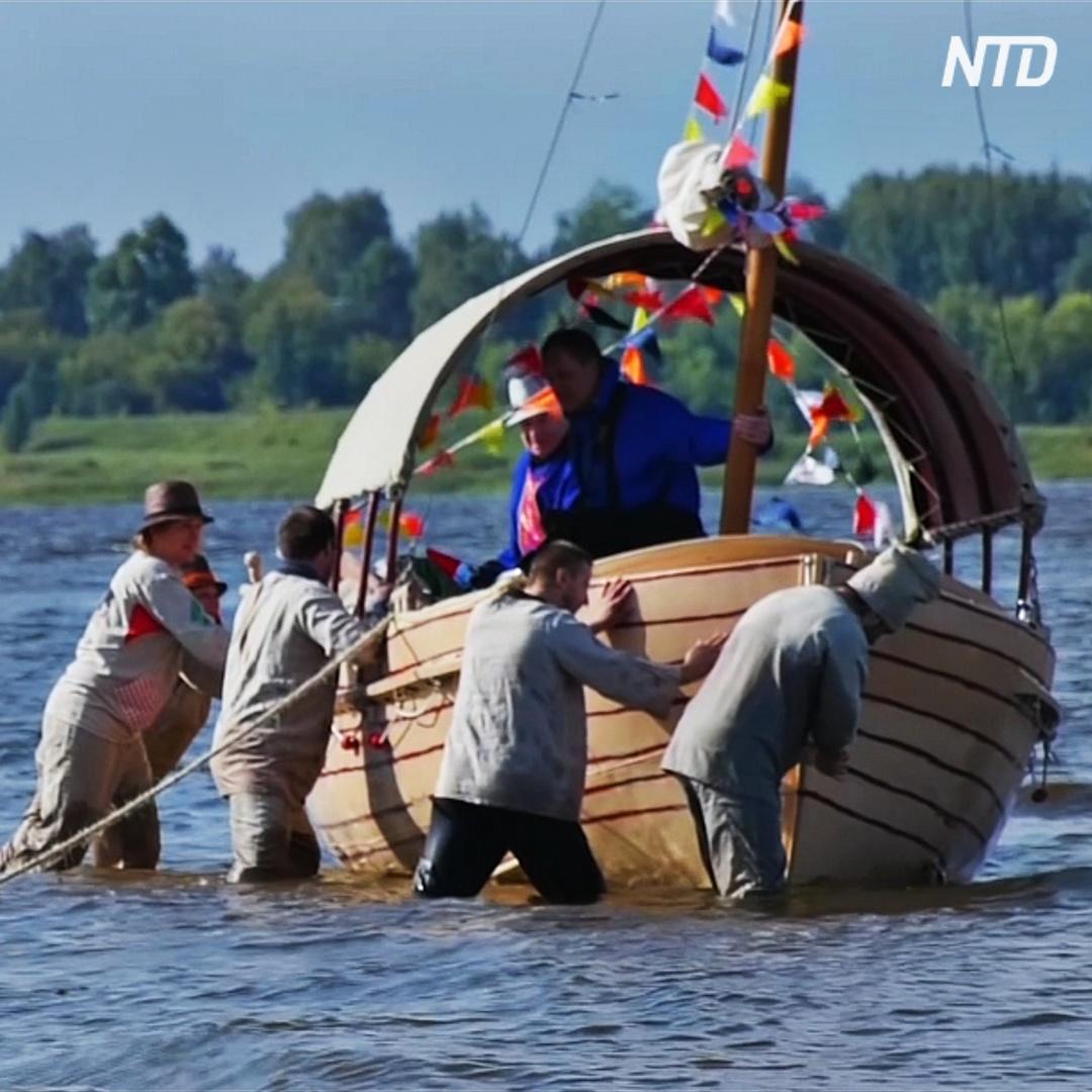 Побыть бурлаками на Волге предлагали в Рыбинске