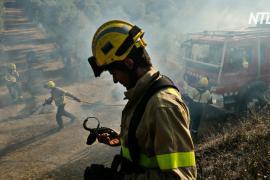 Лесные пожары полыхают недалеко от Мадрида