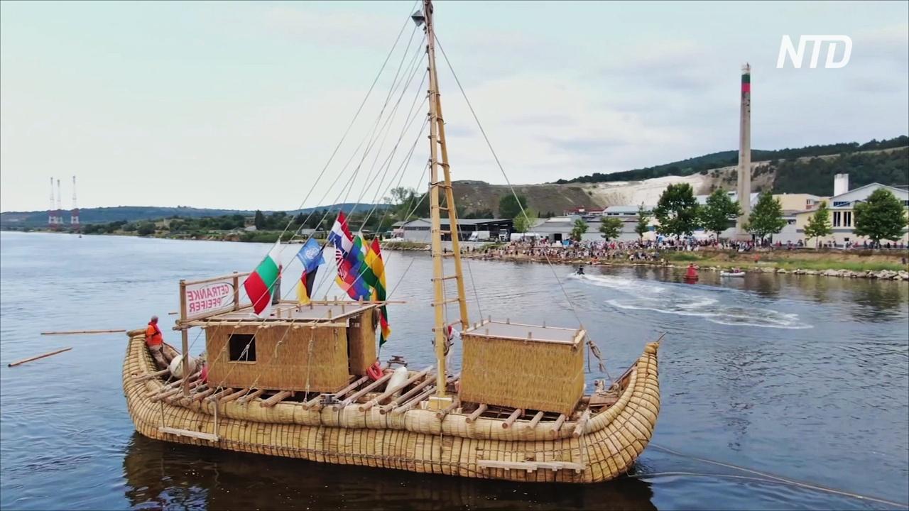 Тростниковое судно Abora IV проплывёт по возможному древнему морскому пути