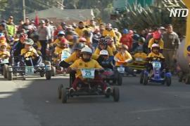 Как боливийцы состязаются на самодельных картах без моторов