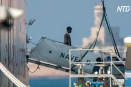 Италия, получив гарантии от ЕС, разрешила сойти на берег 116 мигрантам