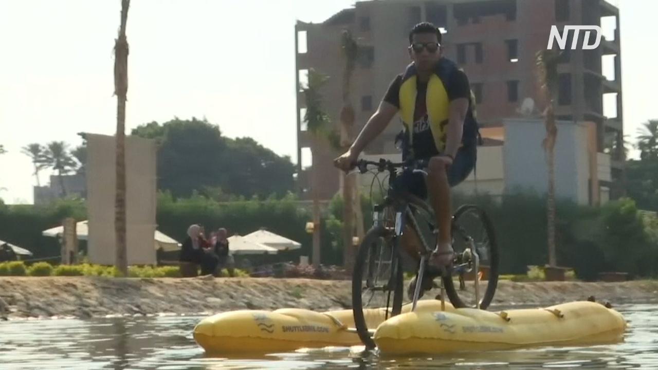 Прогулка по Нилу на водном велосипеде – новое развлечение египтян