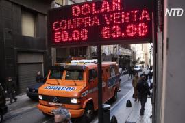 Курс аргентинского песо рухнул на треть после праймериз