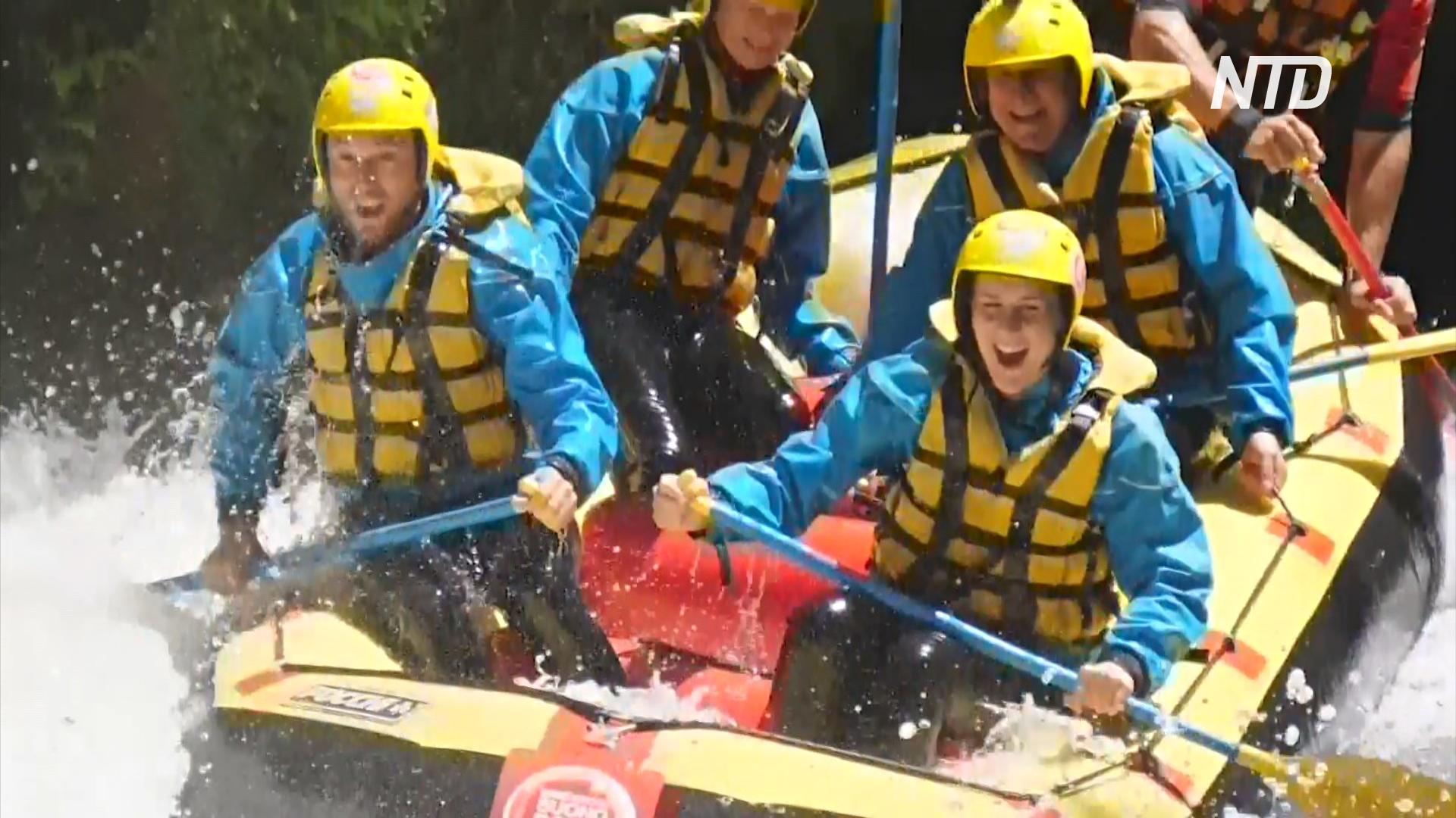 Рафтинг под водопадом Марморе: захватывающее приключение в Италии