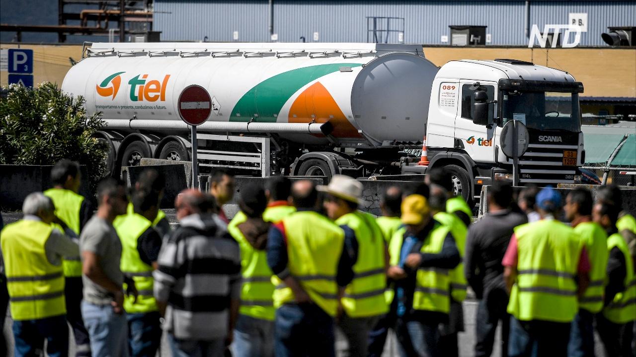 Забастовка водителей бензовозов в Португалии: заправки закрываются