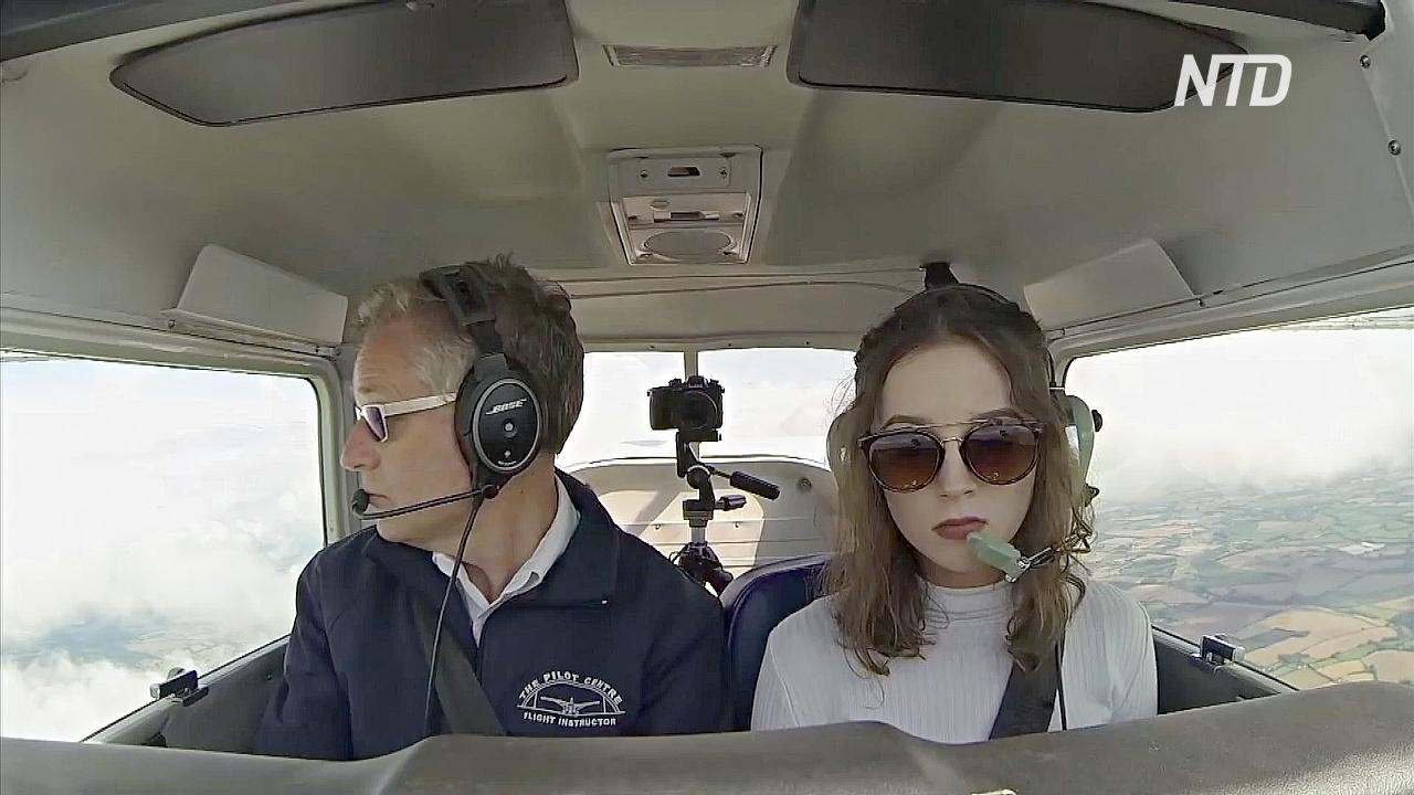 Знакомьтесь с Элли Картер – самым юным соло-пилотом Великобритании