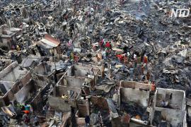 3000 человек остались без крова после пожара в трущобах близ Дакки