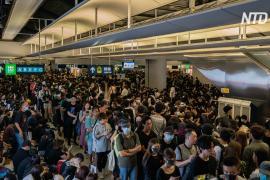 В Гонконге прошёл протест против безнаказанного нападения белорубашечников