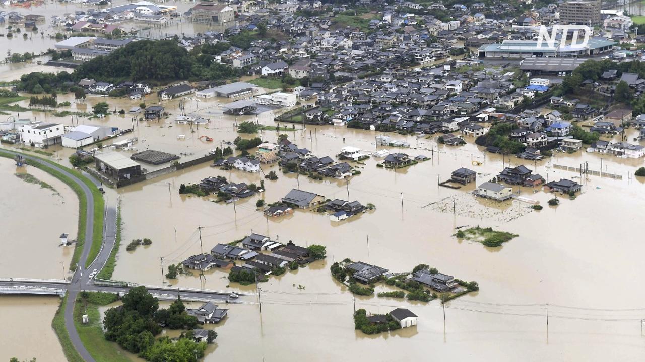В Японии после наводнений произошло землетрясение